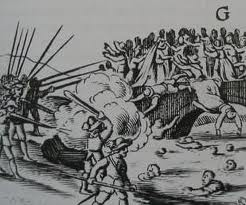 The Portadown massacre in late 1641 in which several hundred Protestants were killed.