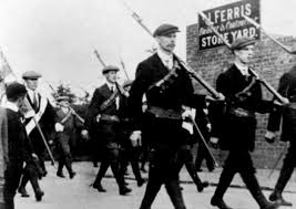The UVF parade armed at Larne.