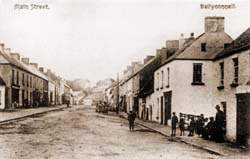 The main street in Ballconnell in the early 20th century.