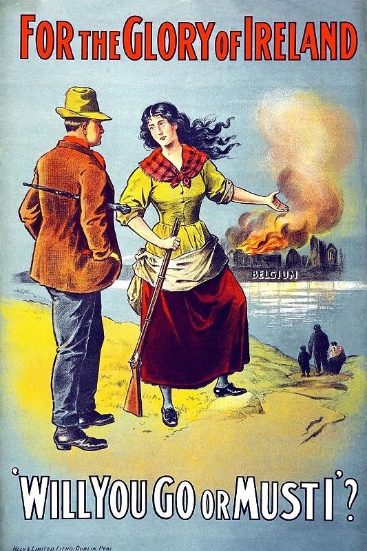 The greater war ireland and eastern europe 1914 1922 the irish war propaganda in ireland encourages irishmen to save catholic belgium fandeluxe Gallery