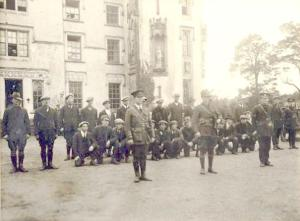 An IRA training camp at Duckett's Grove, Carlow including OC Liam Stack and Adjutant James Byrne. (Courtesy Irish Volunteers website).