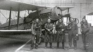 Some flyers and am aeroplane from the early days of teh Irish Air Corps, based at Baldonnel. (Courtesy of the Military.ie website)
