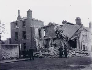 Rathfarnham police barracks, destroyed January 1923.