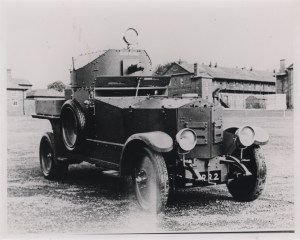 A Rolls Royce armoured car.