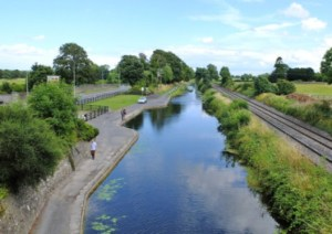 The Royal Canal from Pike's Bridge today.