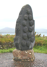 A monument to the massacre at Smerwick.