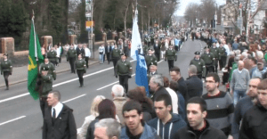 Belfast republicans march at Easter 2015.