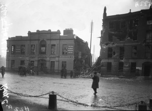 Figure 3, damage to Liberty Hall and Northumberland House.