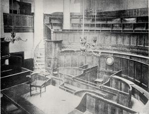 The interior of the Green Street Courthouse.