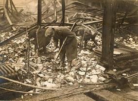 The Rotunda theatre Dublin, burnt by anti-Treaty IRA in November 1922