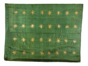 A Fenian flag captured at Tallaght in 1867.
