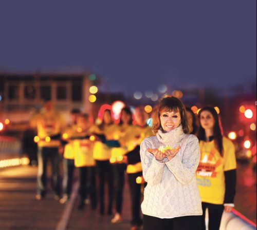 Irish across UK to walk into light