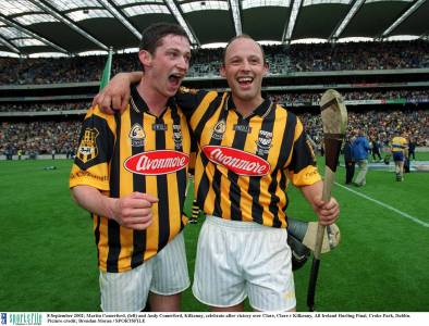 Martin and Andy Comerford have nine Liam McCarthy Cups between them. They both also hurled with Brothers Pearse
