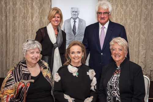 Irish Diaspora Award for Loretta: Tip O'Neill's family with this year's recipient of the Tip O'Neill Irish Diaspora Award Loretta Brennan Glucksman with the great man himself looking on. Front row Rosemary O'Neill, Loretta Brennan Glucksman, Susan O'Neill, Back row: Shelly O'Neill with Thomas O'Neill.