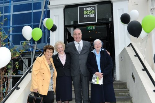 LIC CEO David Barlow with Maeve Heath, Florrie D'Arcy and Sr Joan Moriarty. London Irish Centre's Florrie D'Arcy passes away