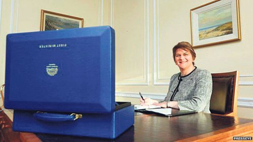 Warm welcome from all for NI's first woman First Minister - Important time for Northern Ireland as Arlene Foster becomes first female First Minister