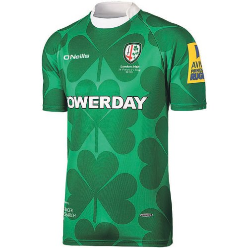 London Irish unveil St Patrick's jersey in support of World Cancer Day