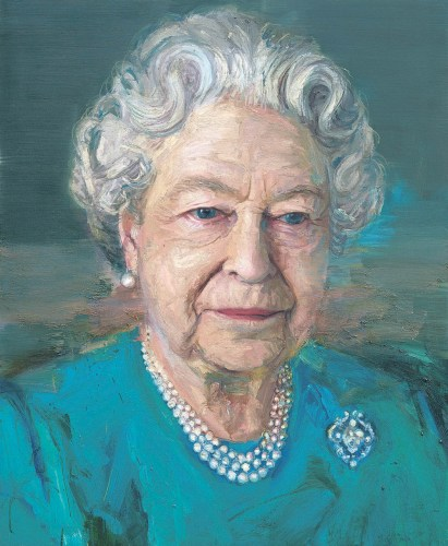 Colin Davidson paints Queen