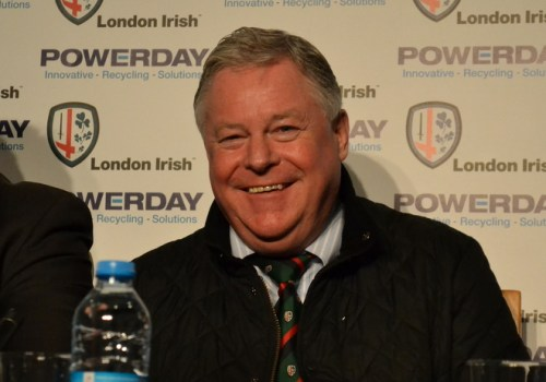 CEO Brian Facer london irish rugby mick crossan