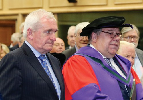 Dr Edward Walsh Taoiseach Brian Cowen honorary doctorate protest
