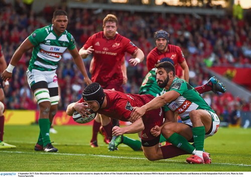 Pro 14 rugby big wins Munster Leinster Ulster
