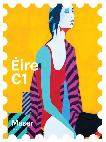 Irish postal service street art stamps