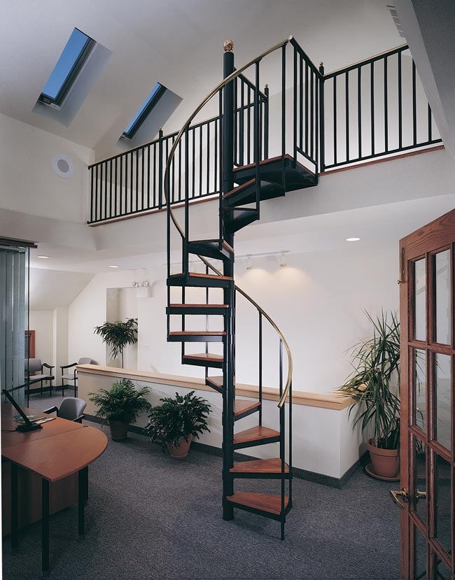 Metal Spiral Staircase Photo Gallery The Iron Shop Spiral Stairs | 6 Foot Spiral Staircase | Reroute Galvanized | Stair Case | Mylen Stairs | Wood | Metal