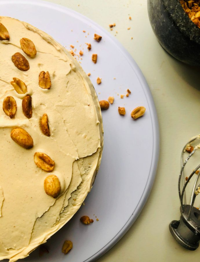 Peanut Butter Molasses Cake