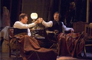 Jonathan Keeble (Irving) and Simon Ward (Sto ker)
