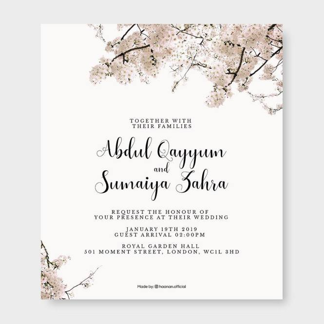 25 Ic Wedding Invitation Card Designs For Muslims