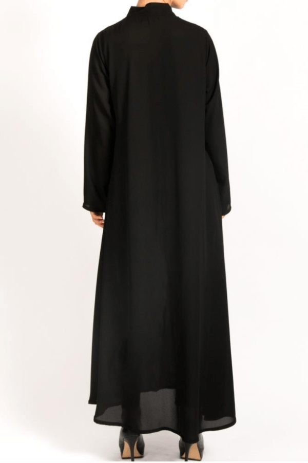 Front zip abayah with pockets on each side 2 - Q&S Islamic Store