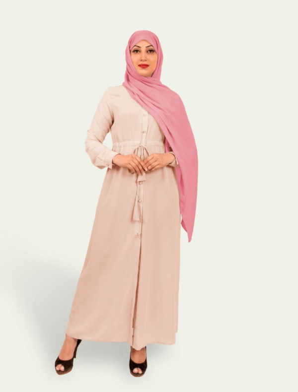 Tassel Long Peach Shirt by Q&S Islamic Store