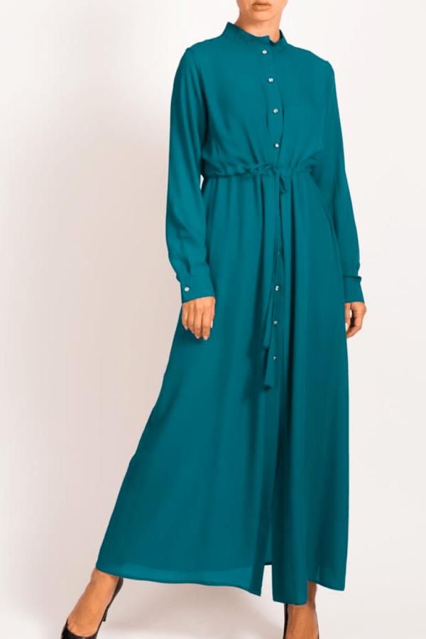 Tassel Long Teal Shirt by Q&S Islamic Store