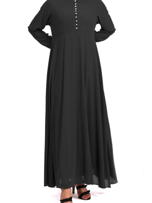 10 Button Georgette Abayah by Q&S Islamic Store