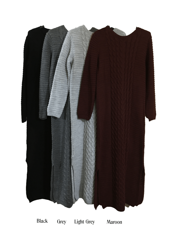 Long knitted winter jumpers