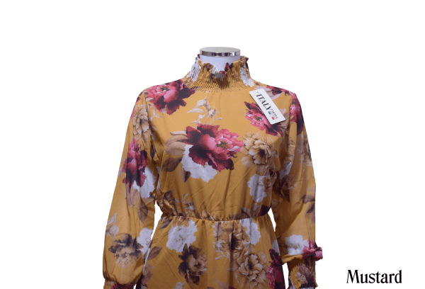 Floral Soft Georgette Top by Q&S Islamic Store