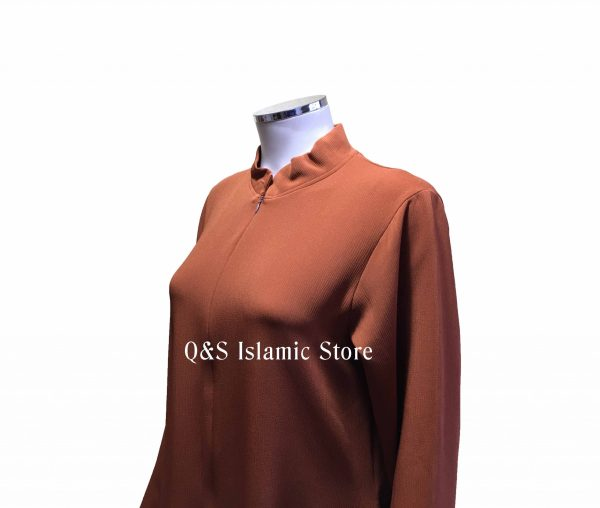 Front zip collar abayah by Q&S Islamic Store