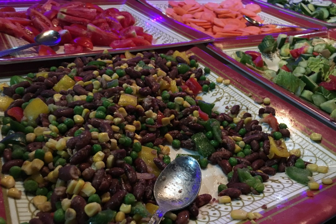 Dinner buffet during Dhow cruise