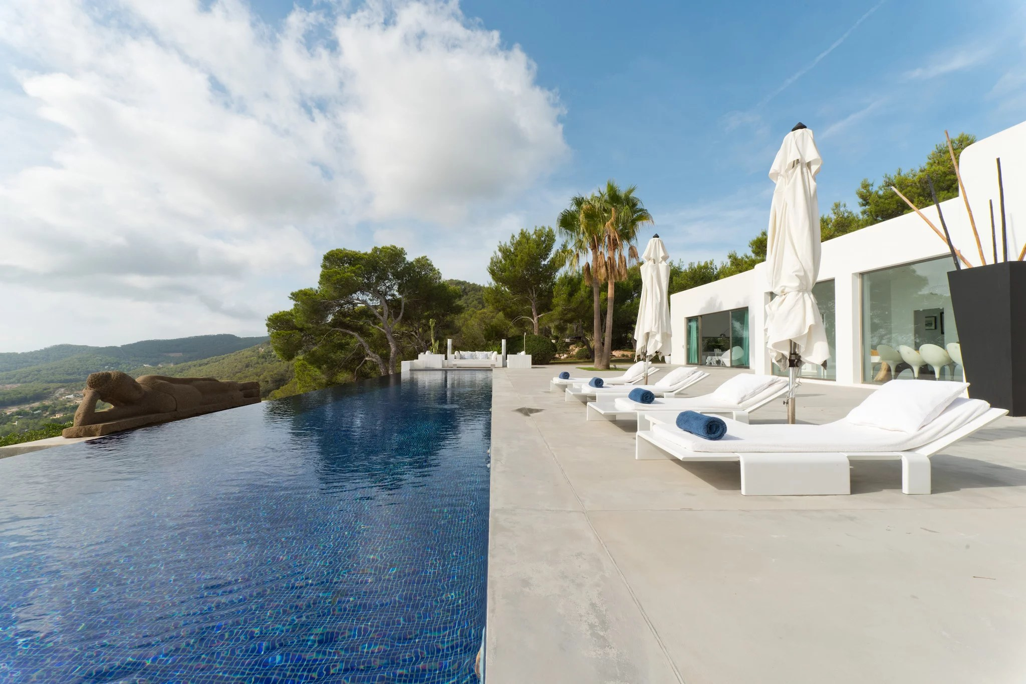 Villa to rent with sea views in Es Cubells San Jose Ibiza