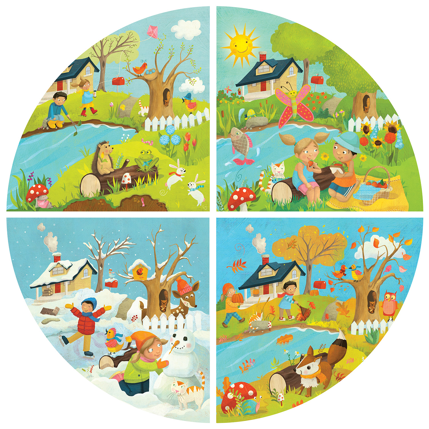 Laura Watson Illustration Four Seasons Puzzle
