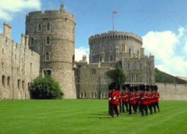 Guards marching at Windsor Castle