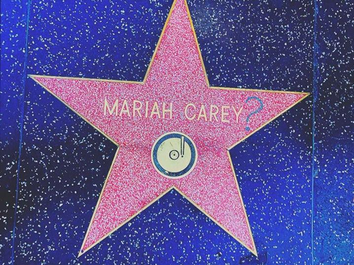 mariah carey star vandalized