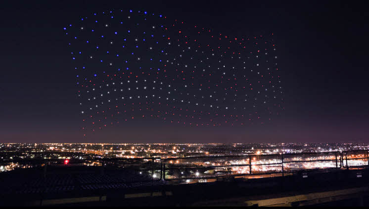 Intel's Shooting Star Drones Lights up the Skies at the Super Bowl Show