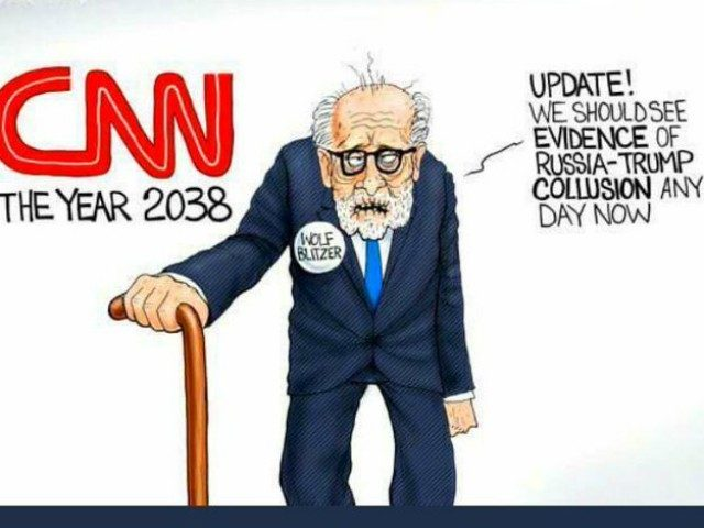 Here Lies Wolf Blitzer, Murdered By President Trump With An Absolutely Savage Tweet