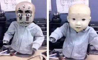 Baby robot just wants a hug