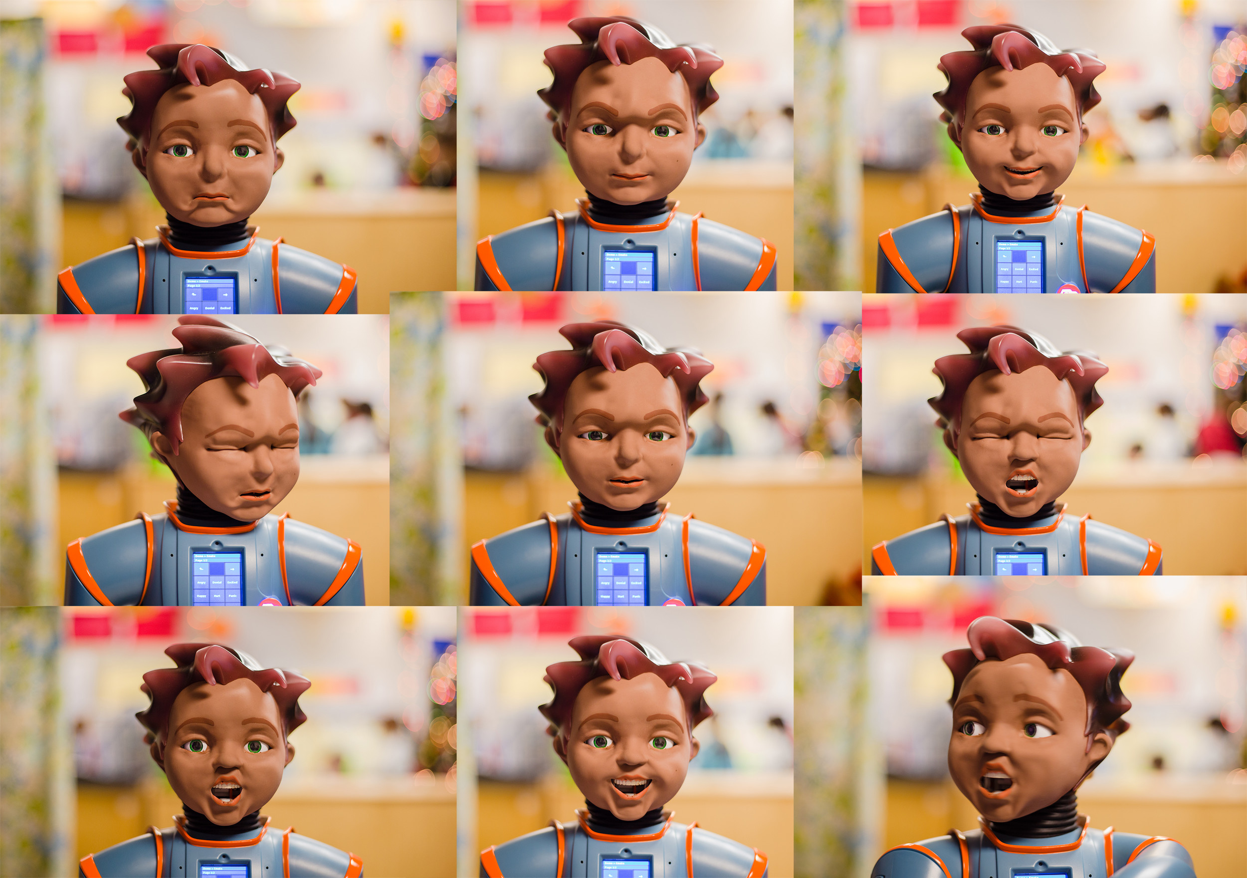 Meeting Milo Robot Uses Spectrum Of Facial Expressions To Engage With Autistic Students At