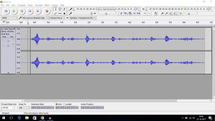 noise free audio audacity