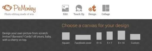 PicMonkey image designer tool
