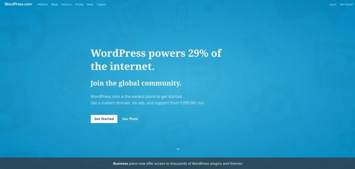 wordpress most popular cms