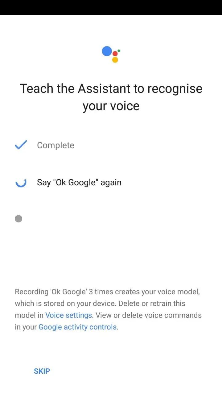 say ok google three times